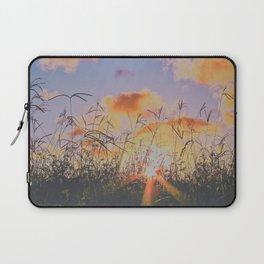 sunset through tall grass Laptop Sleeve