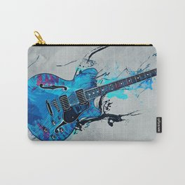 Blue Electric Guitar Carry-All Pouch