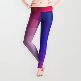 Abstract Geometric Colorful Pixel Art - Tupilaq Leggings
