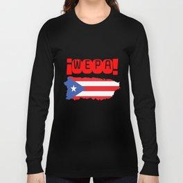 WEPA Puerto Rican Flag Gift for Men & Women Long Sleeve T-shirt