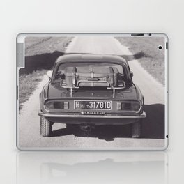 Triumph spitfire on a gravelly road in southern Italy, english sports car, fine art photography Laptop & iPad Skin