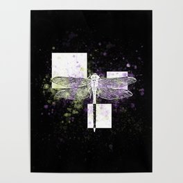 Cosmic dragonfly Poster