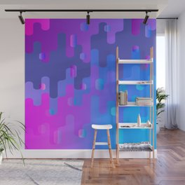 Purple Blue And Pink Liquid Type Abstract Design Wall Mural