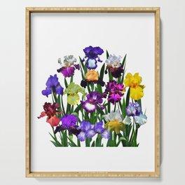 Iris garden Serving Tray