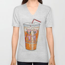 Orange Soda Invasion Unisex V-Neck