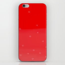 Snowflakes in Red iPhone Skin