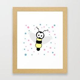 Curious Little Bee Framed Art Print