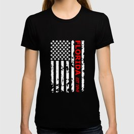 Florida, Bad Ass Black And White Flag With The Year The State Was Established In The USA T-shirt