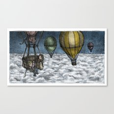 PERIL ABOVE THE CLOUDS! Canvas Print