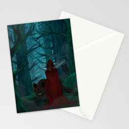 Little Red Gas Mask Stationery Cards