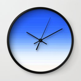 Sky Blue White Ombre Wall Clock