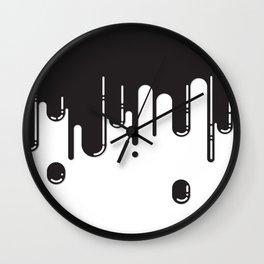 Melting black stuff Wall Clock