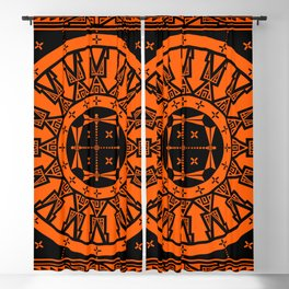 Ancestors (Orange) Blackout Curtain
