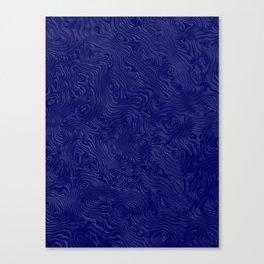 Royal Blue Silk Moire Pattern Canvas Print