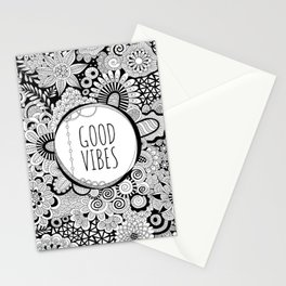 Good Vibes Doodle Stationery Cards