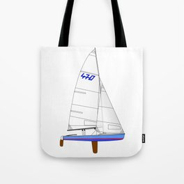 470 Olympic Sailboat Tote Bag
