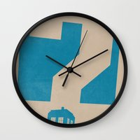 doctor who Wall Clocks featuring Doctor  Who? by Travis English