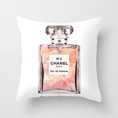 PEFUME No. 5 ORANGE Throw Pillow