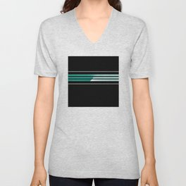 Team Colors 5....teal, black and white Unisex V-Neck
