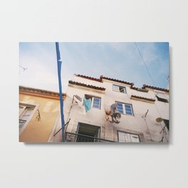 In the streets of Lisbon Metal Print