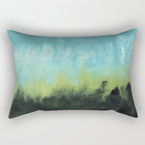 Watercolor abstract landscape 15 Rectangular Pillow