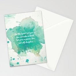 2 Timothy 1:7, Inspiring Bible Verse Stationery Cards