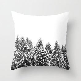White Snow Forest No1 Throw Pillow