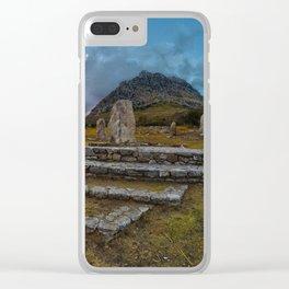Portella della Ginestra Clear iPhone Case
