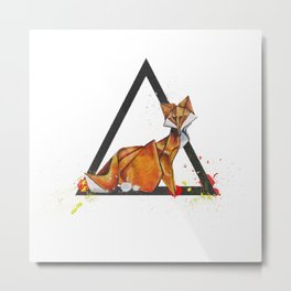 Paper Fox- Wild World Of Paper Series Metal Print