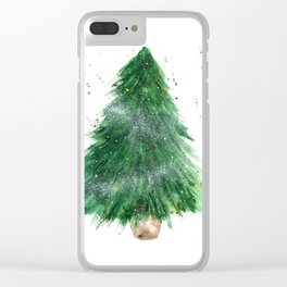 Xmas tree || watercolor Clear iPhone Case