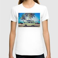 vw bus T-shirts featuring VW Bus Beach Vacation by Limitless Design