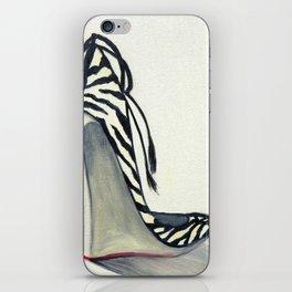 Zebra Wedges iPhone Skin