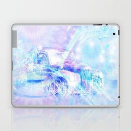 Old car in pink and blue space Laptop & iPad Skin