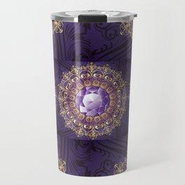 Decorative Background with Round Amethyst Travel Mug