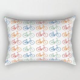 Colorful Bike Pattern Beach Cruiser Rectangular Pillow
