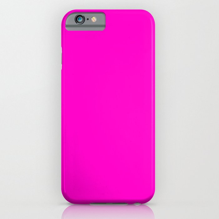 Fluorescent neon pink | Solid Colour iPhone Case