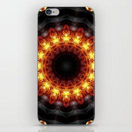 Mandala burning heat iPhone Skin