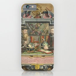 Vintage Print - Portrait of the Cartographers Mercator and Hondius, 1610 iPhone Case