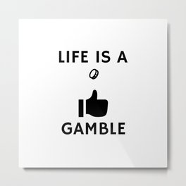 Gambling With A Coin Metal Print