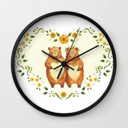 love bear Wall Clock