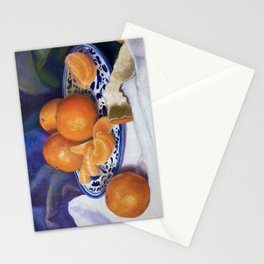 Orange Clementines Still Life Stationery Cards