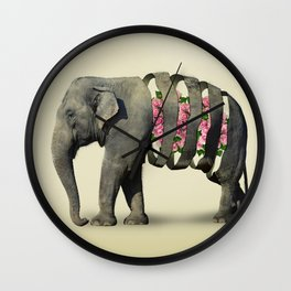 Inner Rose Elephant Wall Clock