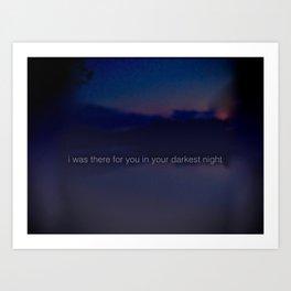 dark nights Art Print