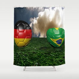 Soccer World Cup GER BRA Shower Curtain