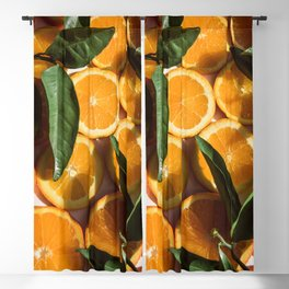 Orange Fruit Pattern Photography Blackout Curtain
