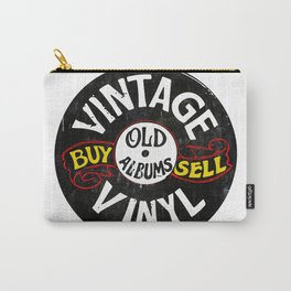Vintage Vinyl Carry-All Pouch