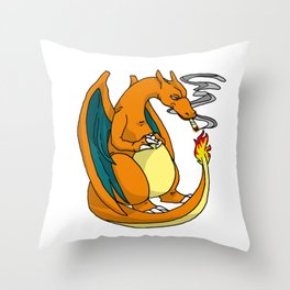 Charredizard Throw Pillow