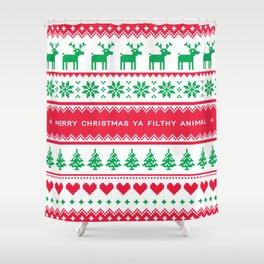 Merry Christmas Ya Filthy Animal Shower Curtain