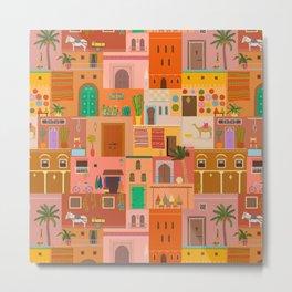 Marrakesh: The Red City Metal Print
