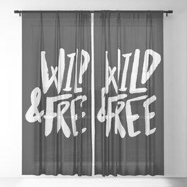 Wild and Free II Sheer Curtain